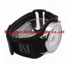 China hook and loop Nylon webbing/mesh fabric sewn watch wrist band with magic tape wholesale