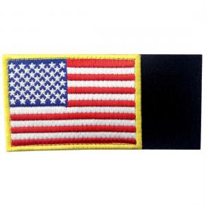 China Embroidered USA Country Flag Patches With Hook And Loop Backing wholesale