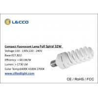 Quality T4 CFL LED Light E27 32W Full Spiral Lamps For Home Lighting SDCM  < 5 wholesale