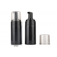 China 100ml Shiny Black Foam Pump Plastic Cosmetic Bottles wholesale