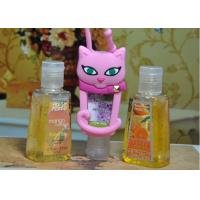 Quality Custom Silicone Products , Hand Sanitizer Pocketbac Holder with Trapezoid PET Bottle for Fashion Lady for sale