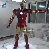 Quality Action Figure Life Size Fiberglass Statue Iron Man for Sale for sale