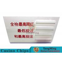 Baccarat Dedicated Casino Game Accessories Poker Game Table Bet Limit Sign for sale