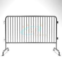 China Steel Stage Barriers Galvanized Iron Crash Temporary Metal Road Use wholesale