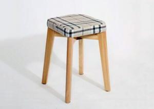 China Minimalist Design Modern Dressing Stool , Waterproof Beech Wood Chair wholesale