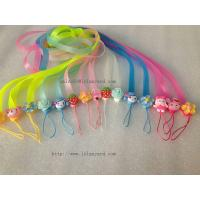 China High Quality Factory Directly Wholesale Cute Silicone Cell Phone Strap, Slicone Lanyard wholesale