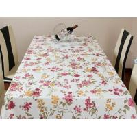 China Hard Wearing PVC Table Cloths Eco-Friendly Flower Printed For Hotel wholesale