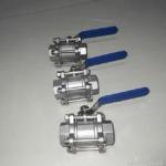 3-pc stainless steel ball valves FULL PORT 1000WOG,PN63 NPT BSPP BSPT API598 304