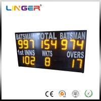 China Yellow Electronic Cricket Scoreboard For School Message Display , Easy Install wholesale