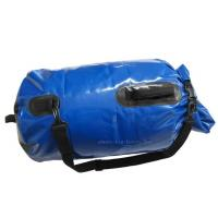 China Blue Mesh Waterproof Camping Bag , PVC Dry Sack Backpack Easy To Store Away wholesale