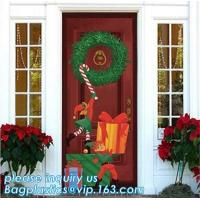 China Promotional custom printing plastic door cover PE christmas door/window/wall covers door poster,indoor & outdoor door po wholesale