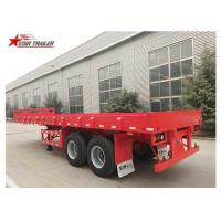 China 2 Axles 30ft 30Ton Flatbed Semi Trailer For Transporting Construction Machinery wholesale