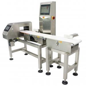 China 10 - 80 Meter Adjustable Conveyor Weight Checker Combined With Metal Detector IP67 Waterprood Rating wholesale