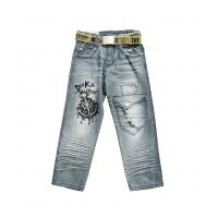 China Excellent quality customizable Fine workmanship kids jeans wear for girls on sale