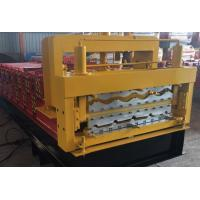 China Steel Roof Deck / Floor Deck Roll Forming Machine Panasonic PLC Control Durable wholesale