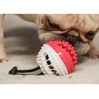 China Dog Chew Toys Interactive Treat Ball with Bell Toothbrush Teeth Cleaning Durable Tough Dog Toys wholesale