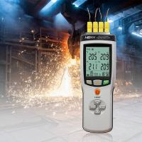 Buy cheap Handheld Thermocouple Thermometer With Double Measuring / Display Channels from wholesalers