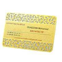 China Vip 	Rose Gold  Metal Business Cards Custom Engraved Golden Plated Advertisementing wholesale