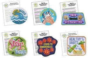 China Heat Press Embroidery 100mm Environmental Patches For School Uniform wholesale