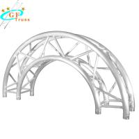 China Silver Aluminum Arch Truss Roof Curved Lighting Truss Exhibition Use wholesale