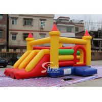 China Kids Rainbow Inflatable Combo Bouncy Castle With Slide Made In China Inflatable Factory wholesale