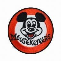 Quality Disney embroidered emblem, customized designs are accepted for sale