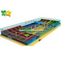 China Galvanized Pipe Indoor Playground With Trampoline High Strength Metal Frame wholesale