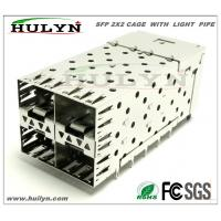 China SFP 2x2 CAGE Stacked SFP Jack With LEDs wholesale