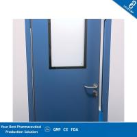 China Antimicrobial Coating Pharmaceutical Clean Room Door Seamless And Adjustable Hinges wholesale