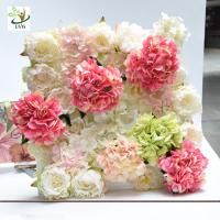 China UVG wonderful silk rose wall weddings with fake penoy flowers for wedding Décor CHR1143 wholesale