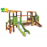 China PE Board Wooden Playground Slide Security Oriented High Strength For Outdoor wholesale