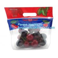 China Food service grape packing bag with slider/Red grapes packing bag/Plastic fruit bag, bag for fruit and vegetable package wholesale