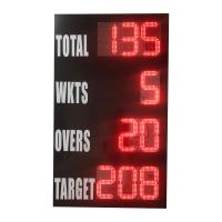 China CE Multi Function Cricket Digital Scoreboard For Long Control Distance wholesale