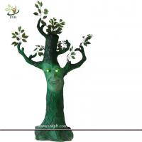 China UVG 6ft tall fake cheap halloween tree with LED lights for party games background decoration wholesale
