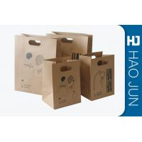 China Professional Kraft Paper Gift Bags With Handles , Matt Lamination wholesale
