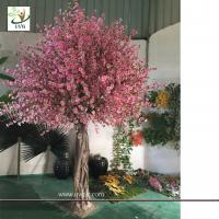 China UVG CHR150 Beach wedding use tall artificial trees in peach blossom branch and cherry flowers for uk theme decoration wholesale