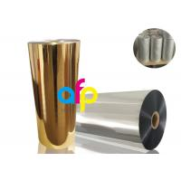 Buy cheap BOPP Thermal Metalized FilmVarious Color 52 Dynes Double Corona Treatment from wholesalers