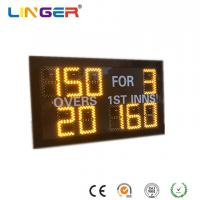 China Small Model Digital Cricket Scoreboard In Yellow Color With IR Hand Held Remote Control wholesale