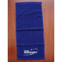 China Solid color custom logo hand towel 100% cotton fitness towel gym towel wholesale