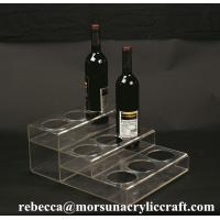 China Customized Tabletop Fashionable Clear Acrylic Wine Bottle Display Holder wholesale