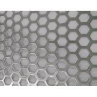 China Hexagonal Hole Perforated Metal Perforated Aluminum Sheet 2mm thick 3003 5005 5052 6061 3004 wholesale