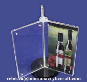China Custom Design 3 Side A4 Acrylic Menu Display Holder wholesale