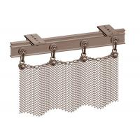 China Copper Color Aperture 6mm Metal Mesh Drapery, Metal Chain Curtains Space Divider wholesale