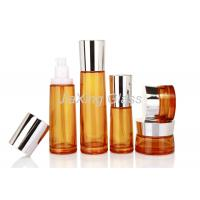 Quality Lacquered Empty Cosmetic Glass Bottles 40ml 100ml Lotion Cream for sale