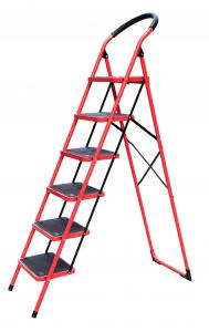 China Silver Foldable 1.79m 150kg Steel Step Ladder wholesale