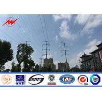 China 8M 3mm Electric Power Pole Q345 Material with Bitumen for 69KV Transmission wholesale