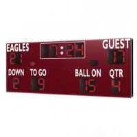 China American Type Electronice Digital LED Football Scoreboard in Red Color wholesale
