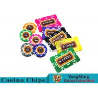 China Entertainment 12g 760pcs Custom Poker Chip Sets With Anti - Off Film Protection wholesale
