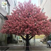 China UVG 4m Indoor home artificial cherry blossom landscape trees for birthday party decoration wholesale
