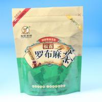 Quality custom printed stand up chinese tea packaging bag with bottom gusset for sale